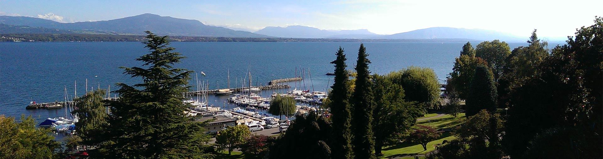 Agence web Nyon - Port, lac Léman, Mont-Blanc